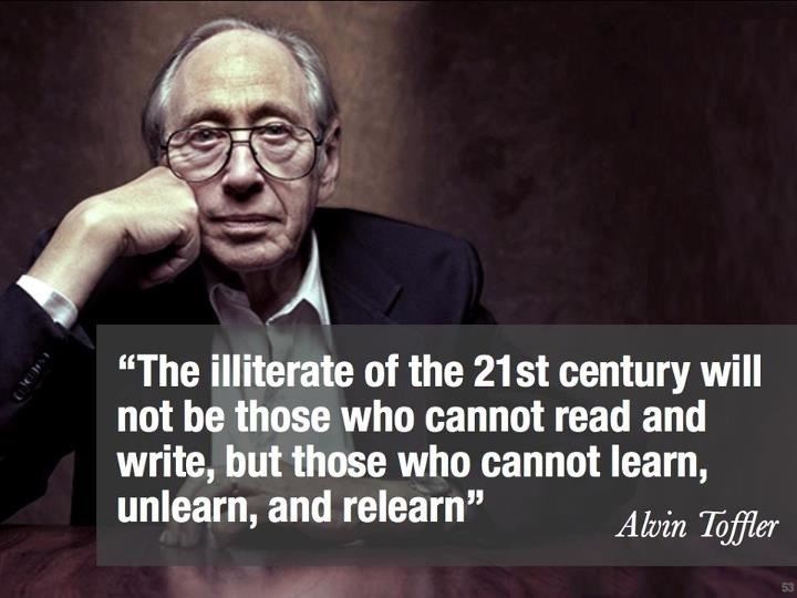 toffler illiterate